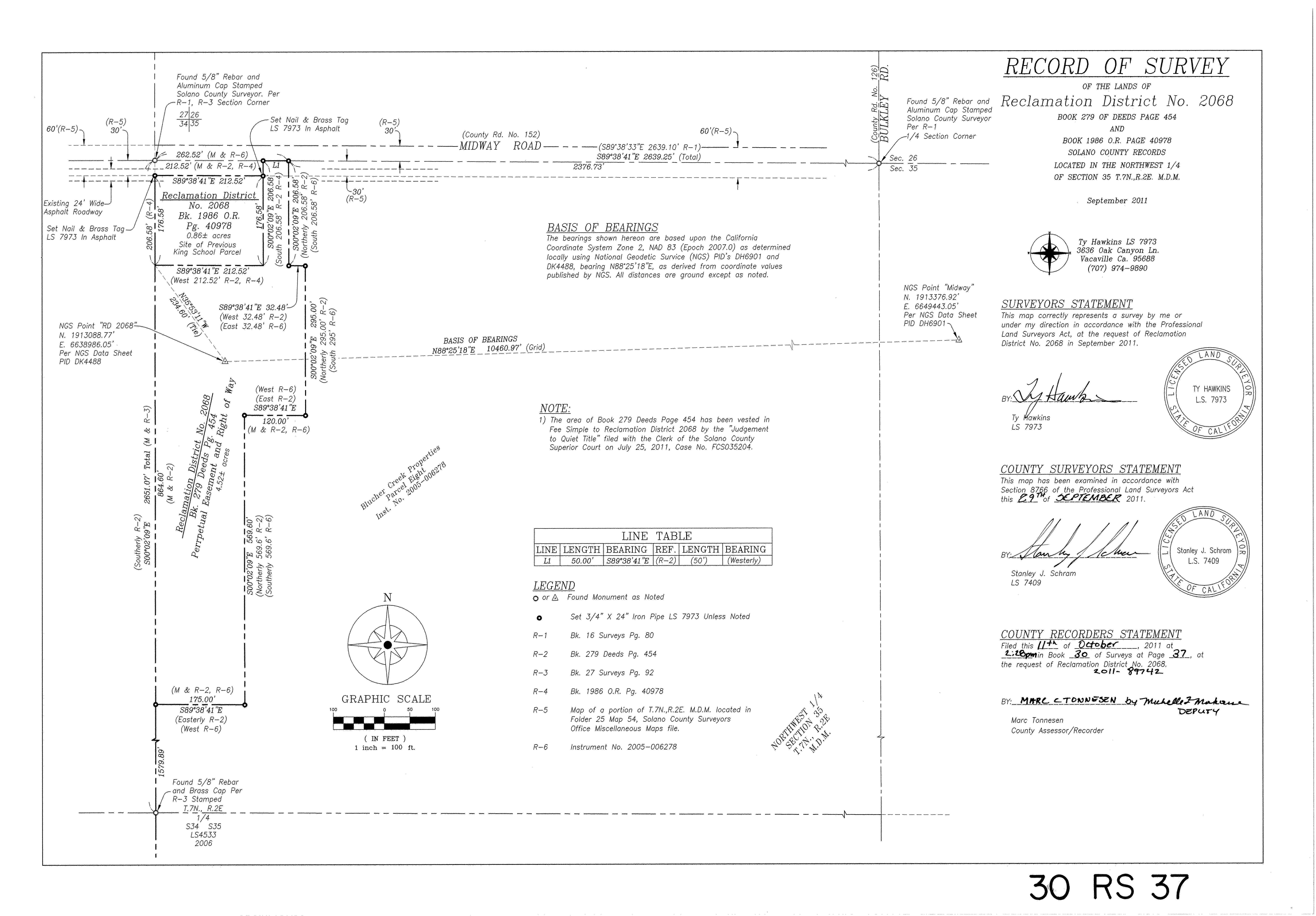Boundary Survey Solano County CA